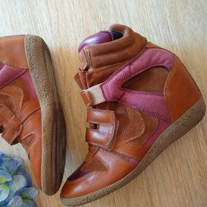 Lemare' Hidden High Wedge Sneaker Ankle Boots